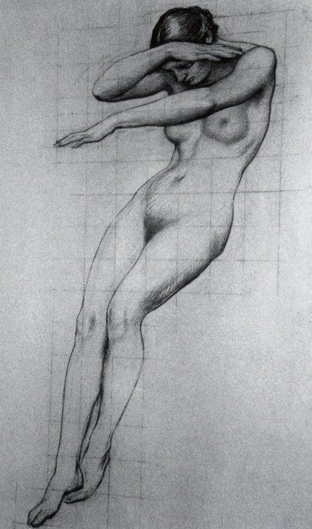 Herbert James Draper, Study for the Foreground Figure of Clyties of the Mists