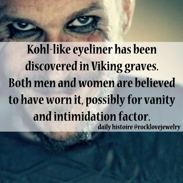 -evidence for Viking-age makeup. Apparently the Norse appreciated a good smoky eye?