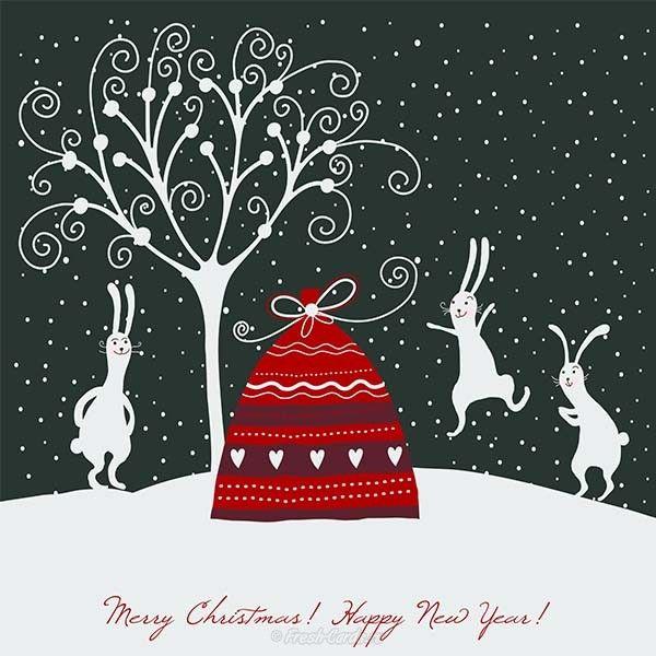 Новогодняя открытка обложка рисунок