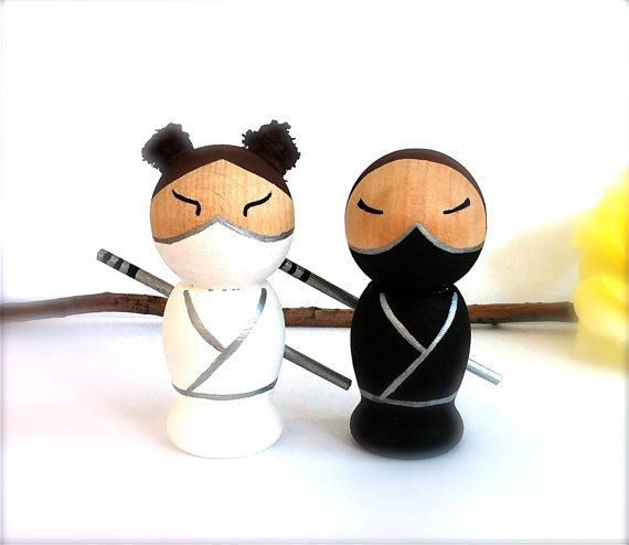 Hey, I found this really awesome Etsy listing at https://www.etsy.com/listing/89699535/ninja-wedding-cake-toppers-3d-ninja-cake