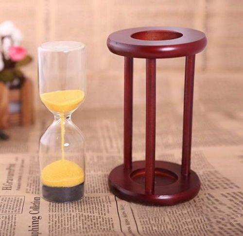 DIY Sandglass Brown Wooden Hourglass Timer Idea Creative Decor Birthday Gift | eBay