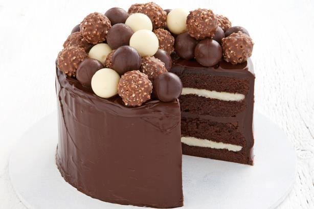 Gateau au chocolat noir, au lait et blanc