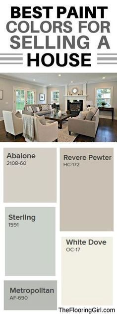 Best paint colors for selling your house #paint #color #sellinghomes #PaintColors #DIYHomeDecorRenting