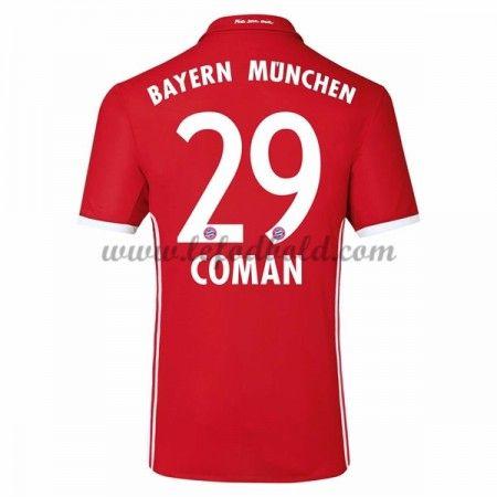 Billige Fodboldtrøjer Bayern Munich 2016-17 Coman 29 Kortærmet Hjemmebanetrøje