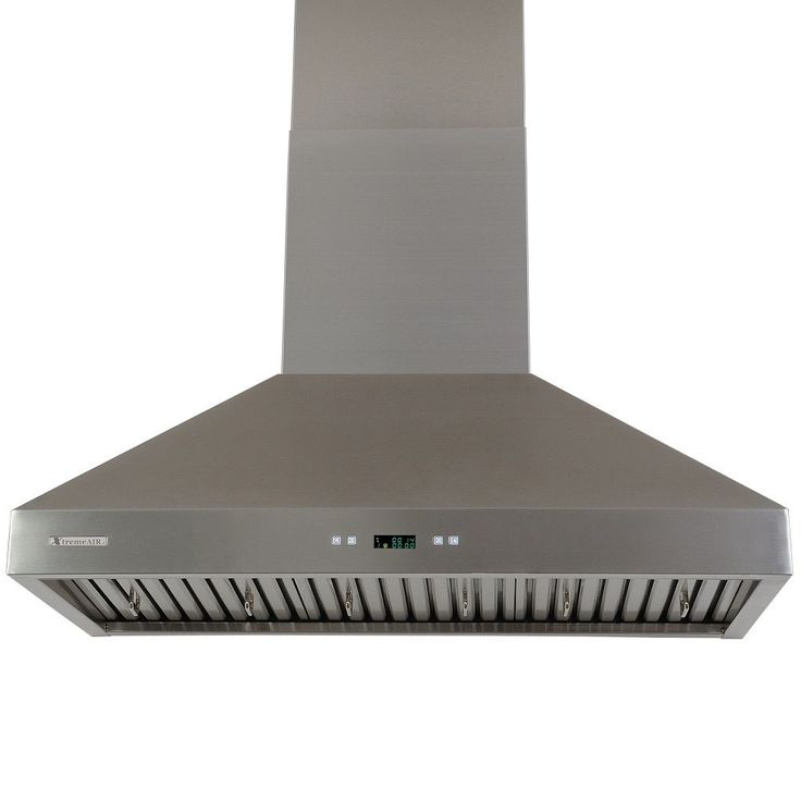 USA Xtremeair Pro-X Stainless-Steel Range Hood with Squirrel Cage Motor (30in, Wall Mount), Silver stainless steel