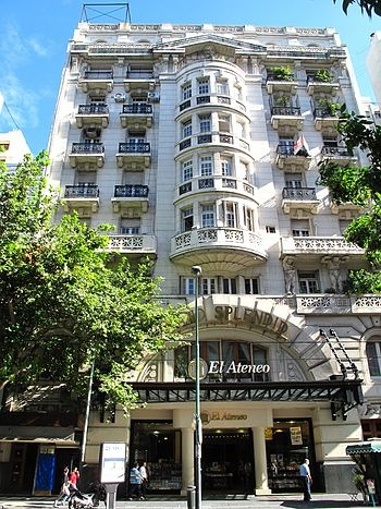 El Ateneo library building, Avda. Santa Fé en Buenos Aires. Argentina. Tambièn confitería...