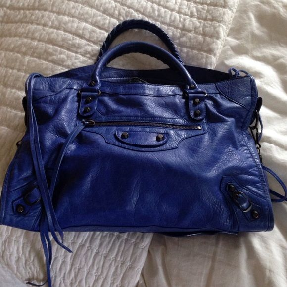 Balenciaga City Bag Blue Authentic Balenciaga with tags and sleeper bag. Gently warn. Balenciaga Bags Shoulder Bags