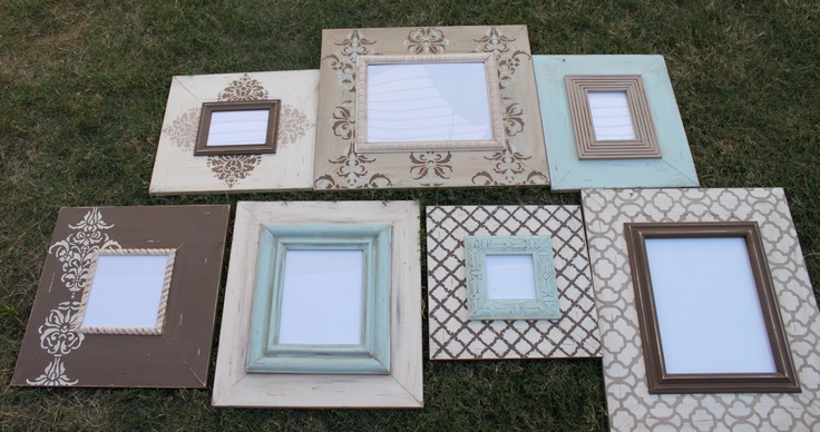 Can we figure out how to paint frames like this?... gorgeous!
