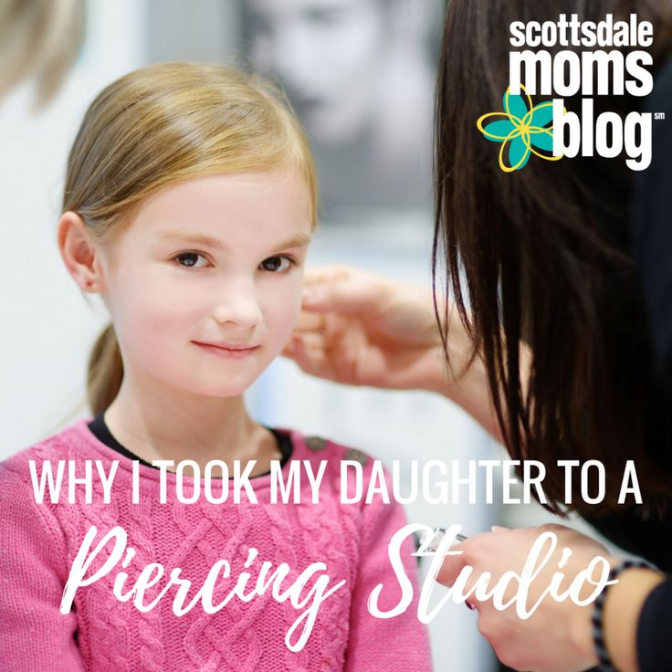 """If you have school aged girls, you are probably getting the question a lot, """"Can I pierce my ears?"""" This is why I chose a piercing studio."""
