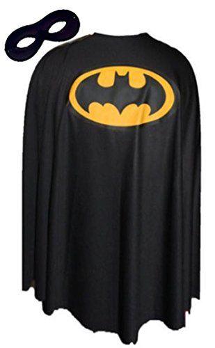 "Black Batman Fancy Dress Cape Super Hero Superheroes Capes FREE MASK[24""] The Dragons Den http://www.amazon.co.uk/dp/B00QF71I94/ref=cm_sw_r_pi_dp_oDgxwb1Z1F5HK"