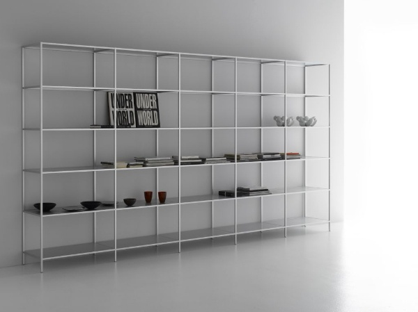 Attractive Modular Shelf / Contemporary / Aluminum / With Drawer   MINIMA By Bruno  Fattorini   MDF Italia