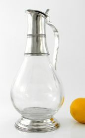 Bottle Giotto 700 of Cavagnini Glass bottle with pewter elements.