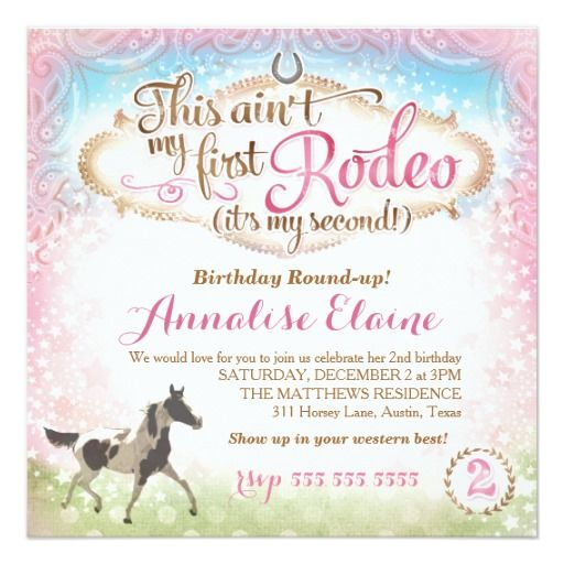 206 best 2nd Birthday Invitations images on Pinterest 2nd birthday