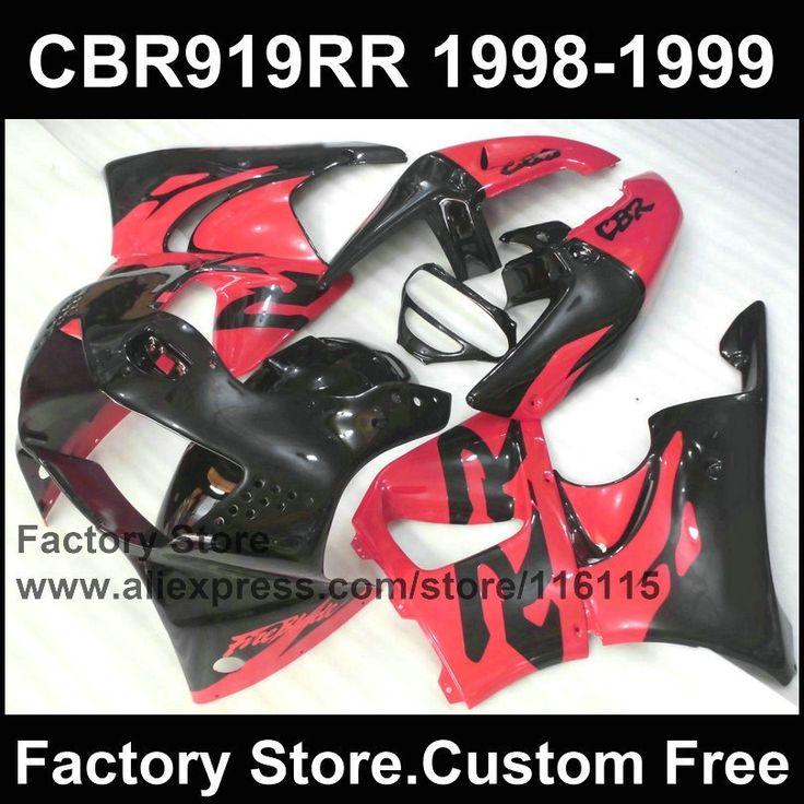 287.10$  Buy here  - 7gifts ABS Motorcycle fairing set for HONDA CBR900RR 919 1998 1999 CBR919RR 98 99 CBR 919RR  red black fairings