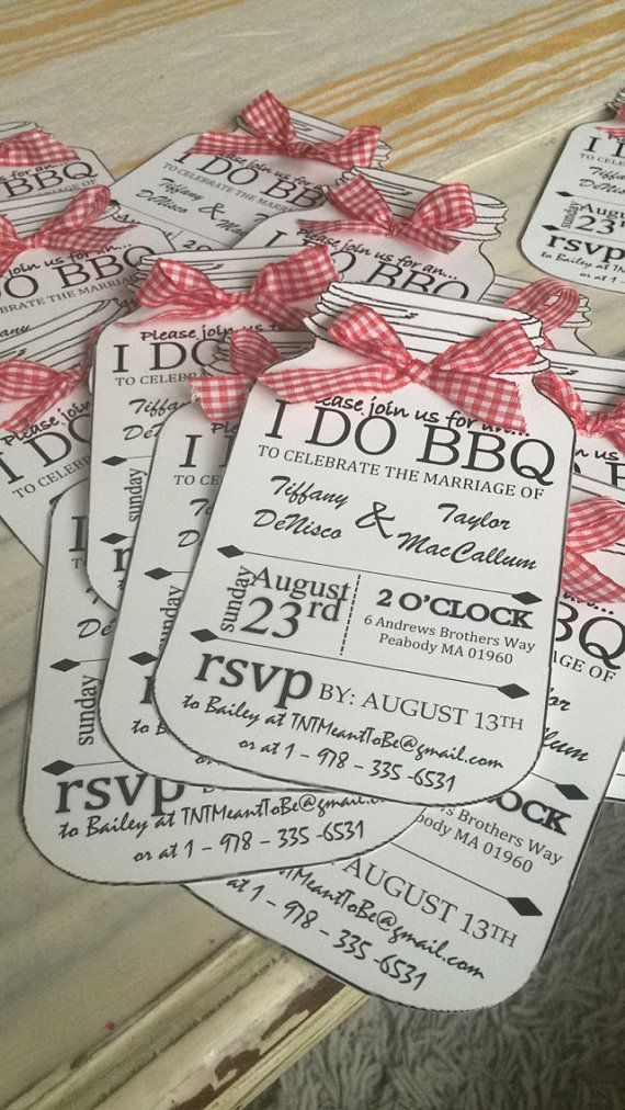 I DO BBQ Personalized Invitations by BeeActive on Etsy