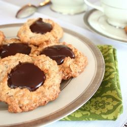 ... Chocolate Ganache - airy, light cookies with a serious chocolate