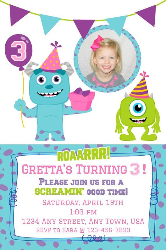 15 Best Invitaciones 1anito Images On Pinterest Parties Monster
