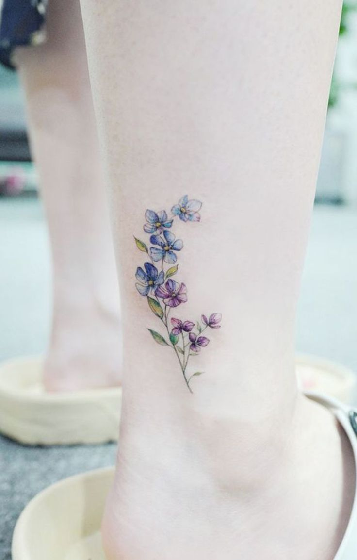25 Cute Tiny Floral Ankle Tattoo Ideas