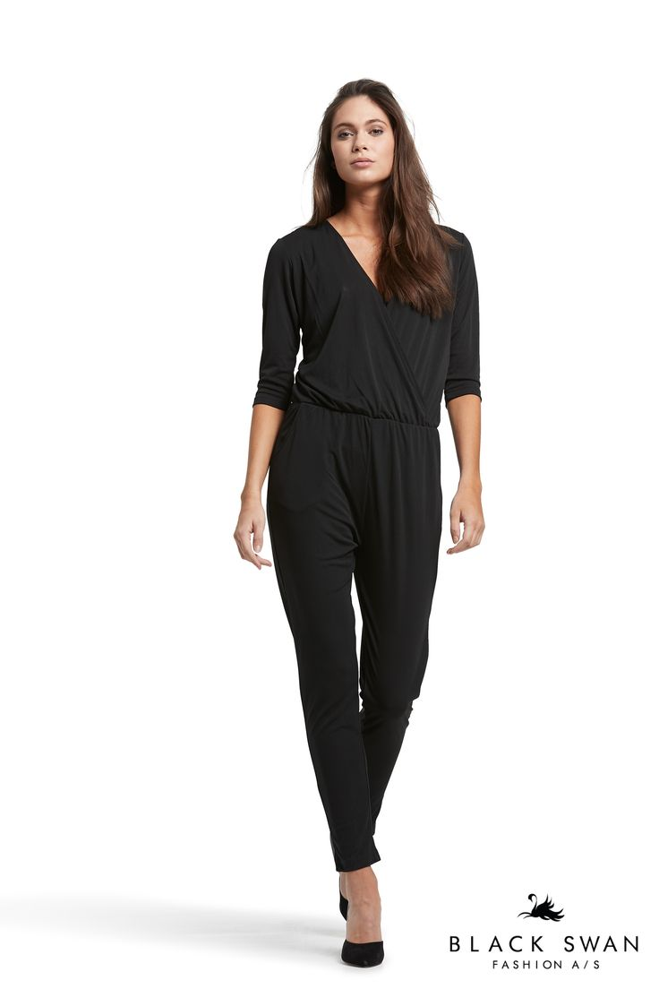 Cool jumpsuit with wrap effect. Joanna jumpsuit Black Swan Fashion SS17
