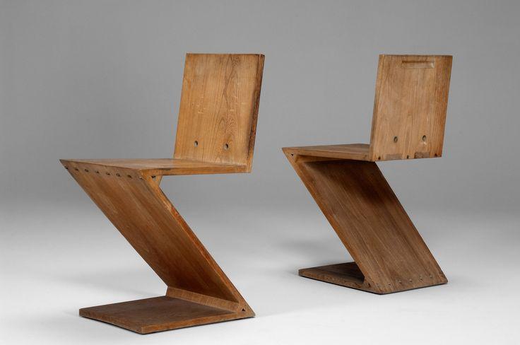 Gerrit Rietveld, Zig Zag Chair, 1934
