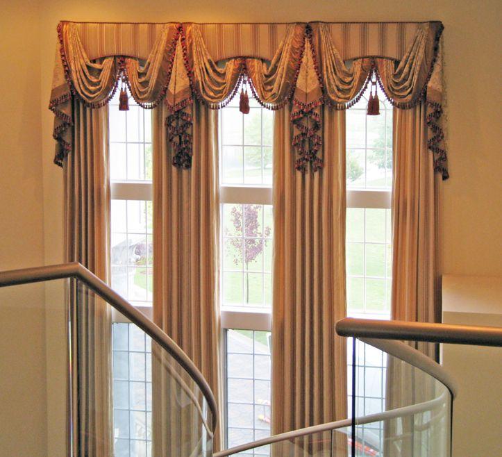 шторы на высокие окна фото эта