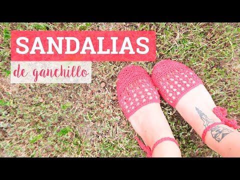 Tutorial sandalias de ganchillo - patrón gratuito