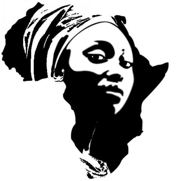 African Stencils African Queen Black Stencil Art The