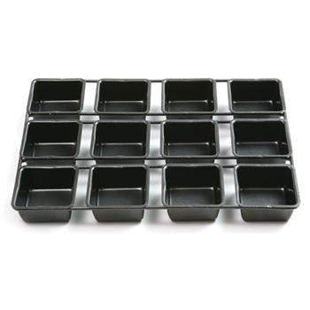Square Cupcake Pan | Nonstick Linking Square Cupcake Pan  -- I want this as soon as we move!