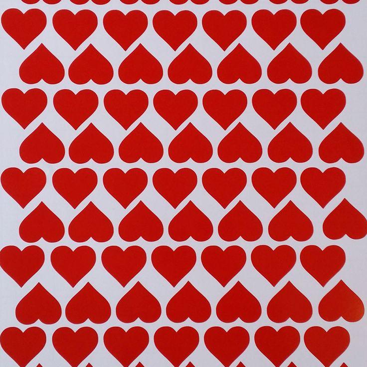 Removable Vinyl Heart Stickers/Vinyl Wall Decals/Red Stickers/Heart Wall Decals/Heart Decals/Wall Art/Craft Supplies.