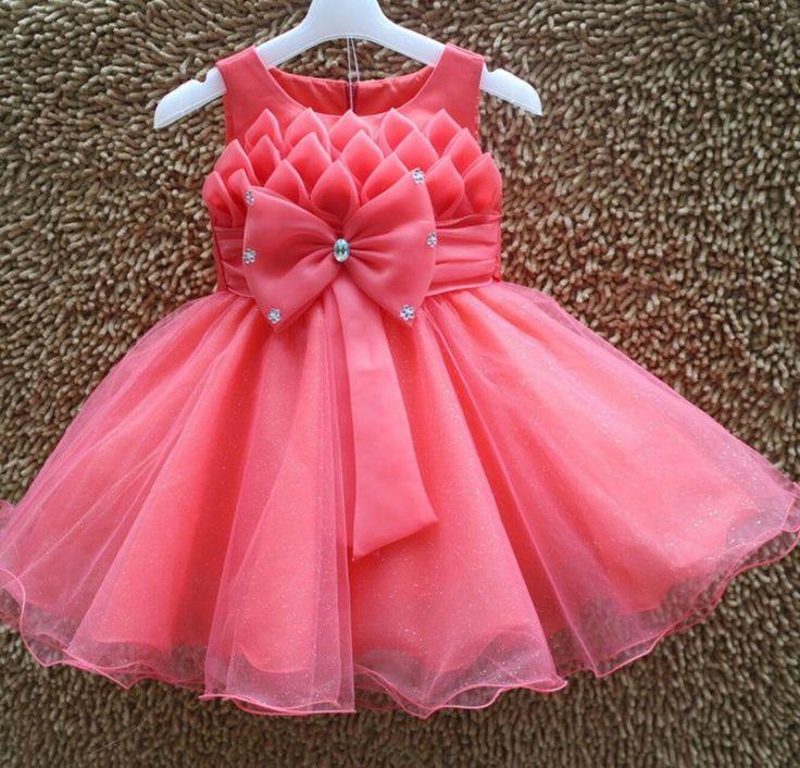 Mejores 14 imágenes de baby girl dresses en Pinterest   Vestidos de ...