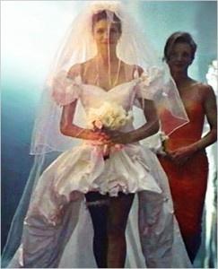 this was my dream wedding dress when i was little, november rain video. i still like it..