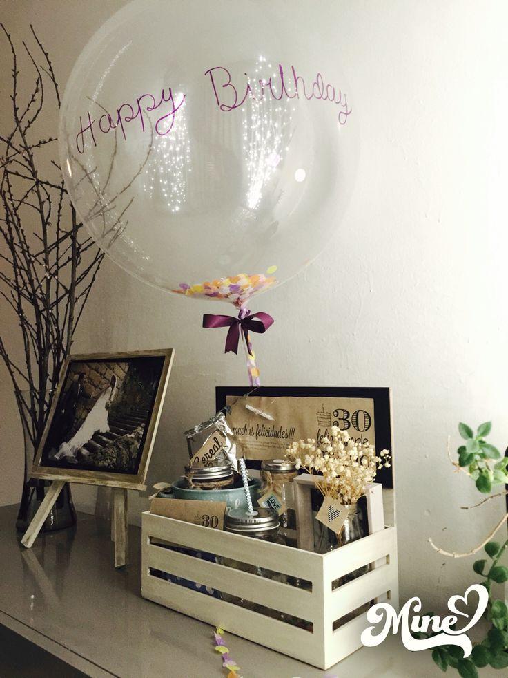 Desayuno cumpleañero sorpresa love globo gigante happy birthday