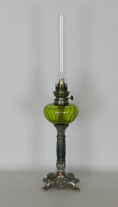 Antiques Atlas   Decorative Victorian French Art Nouveau Oil Lamp