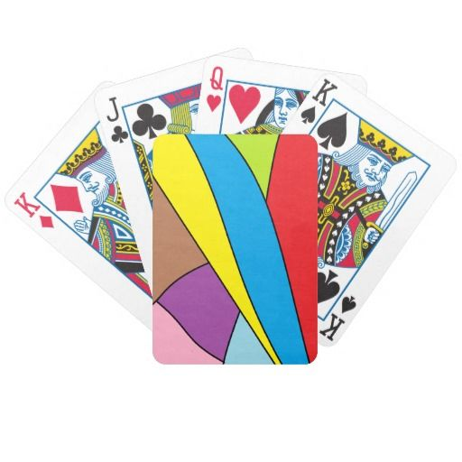 abstract multicolored pattern poker deck