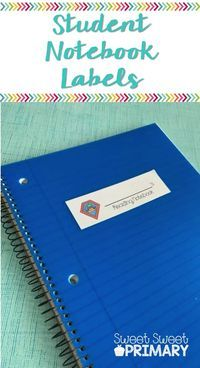 These notebook labels and folder labels are perfect for keeping all your students' supplies in order. Included are labels for reading, math, science, spelling, homework, and take home notebooks and folders. Great for kindergarten, first, second, third, an