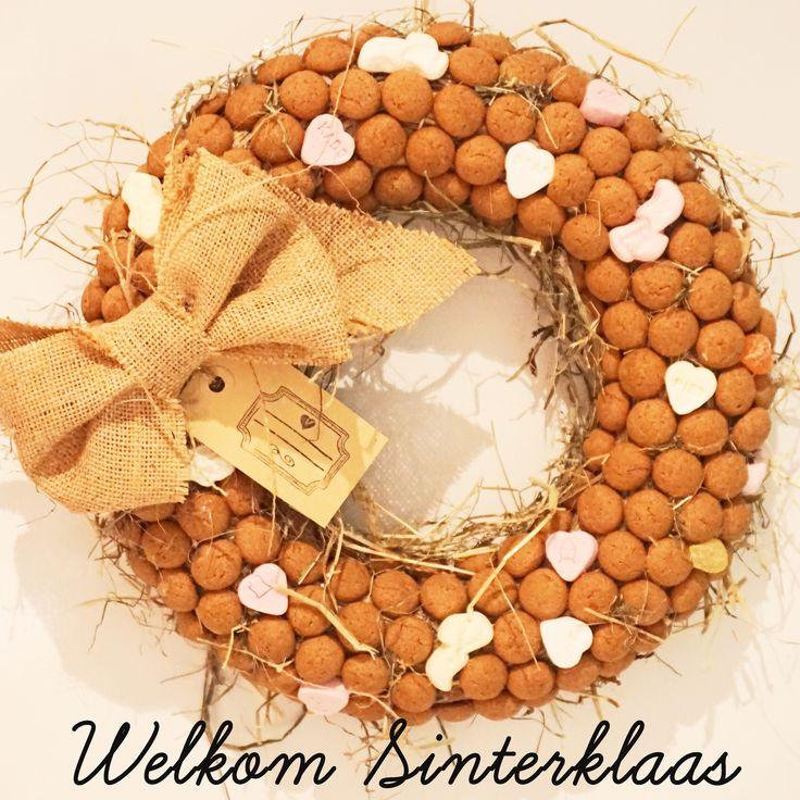 Workshop pepernotenkrans maken bij www.pink-cherry.nl