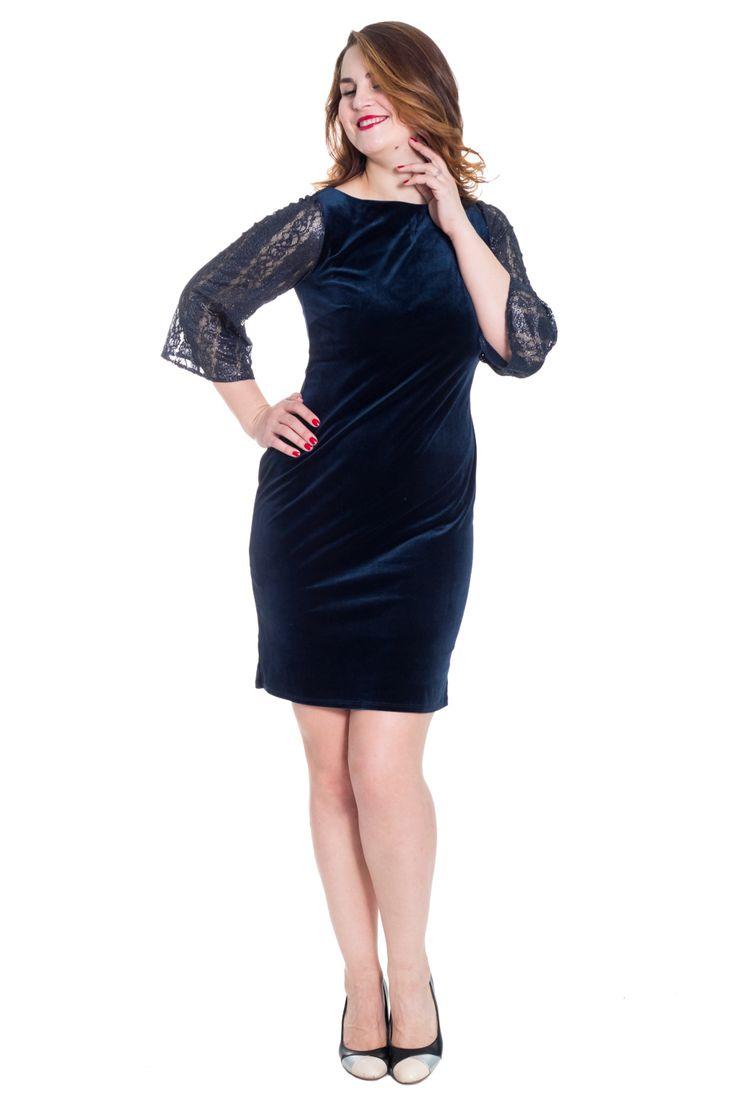 Бархатное платье с кружевными рукавами http://fas.st/YZMnaE