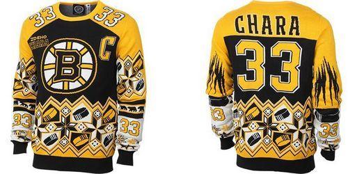 Boston Bruins #33 Zdeno Chara Black/Yellow Men's NHL Ugly Sweater