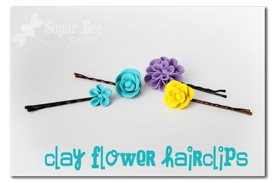 DIY flower hairclips