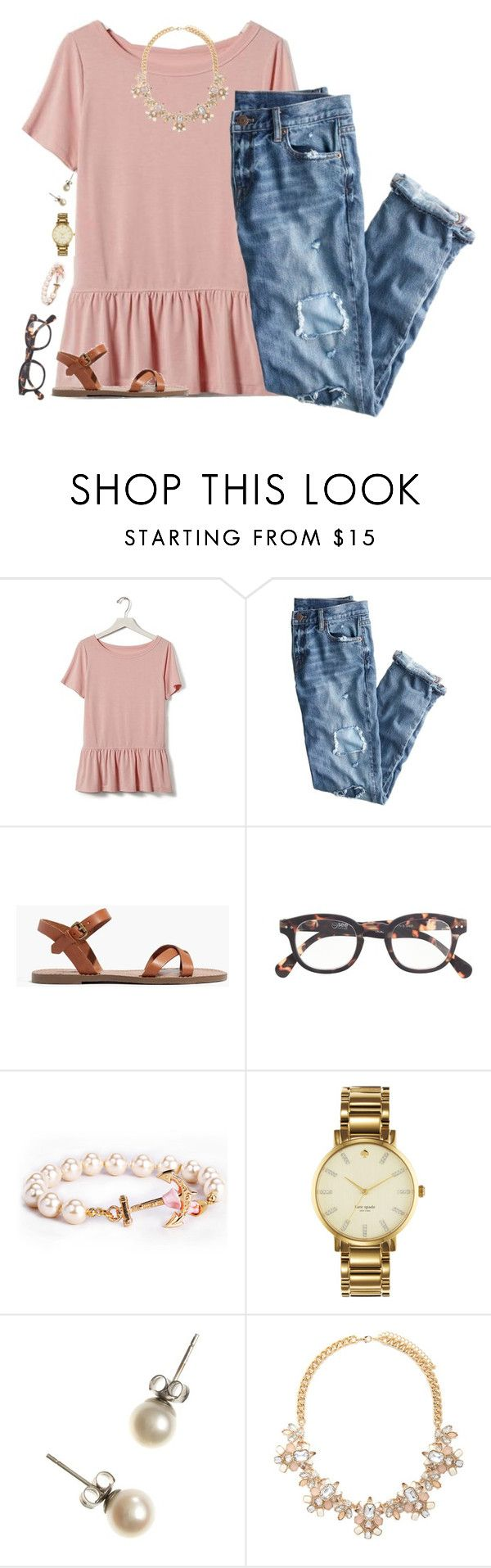 """School Days are coming again"" by pink-palmetto ❤ liked on Polyvore featuring Banana Republic, J.Crew, Madewell, Kate Spade and Forever 21"