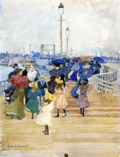 South Boston Pier (also known as Atlantic City Pier) - Maurice Prendergast, 1896