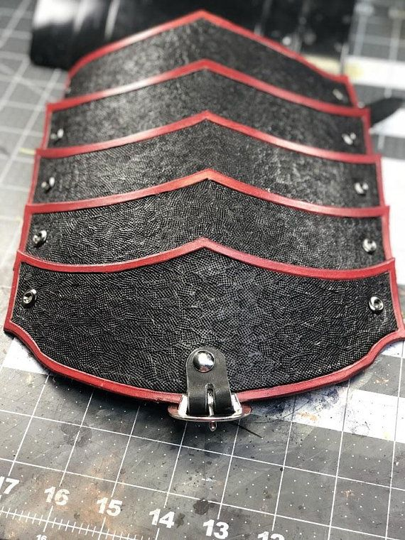 Leather Pauldron Pattern for Armored Cosplay or Larps