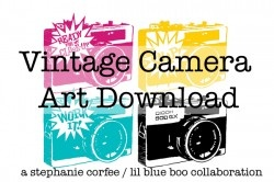 Lots of free printables hereCraft Art, Corfee Art, Free, Vintage Cameras, Blue Boos, Cameras Download, Cameras Art, Art Download, Camera Art