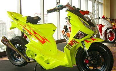Modifikasi Honda Beat keren warna kuning