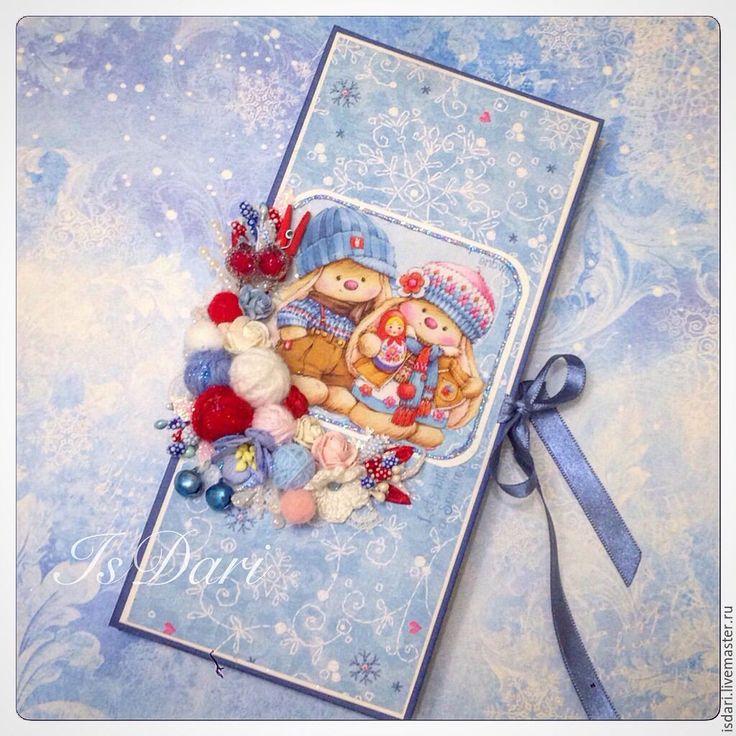 """Купить Новогодняя коробка-шоколадница-купюрница """"Зайки Ми"""" - шоколадница, шоколадницы, шоколадница ручной работы"""