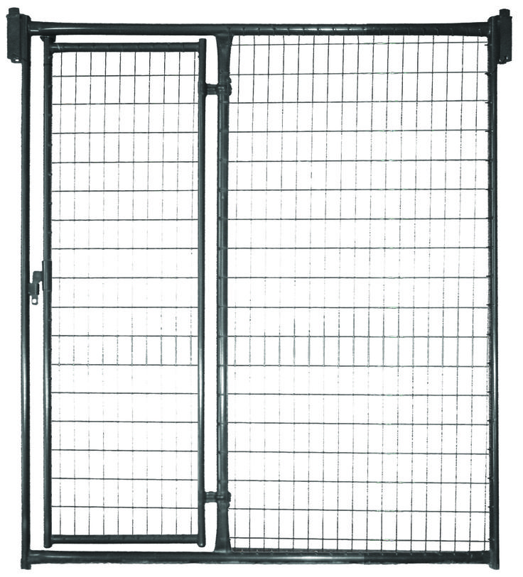 "Our kennel fronts feature a lockable door latch, are constructed with stainless steel 2"" x 4"" welded wire, with each wire individually welded to the frame."