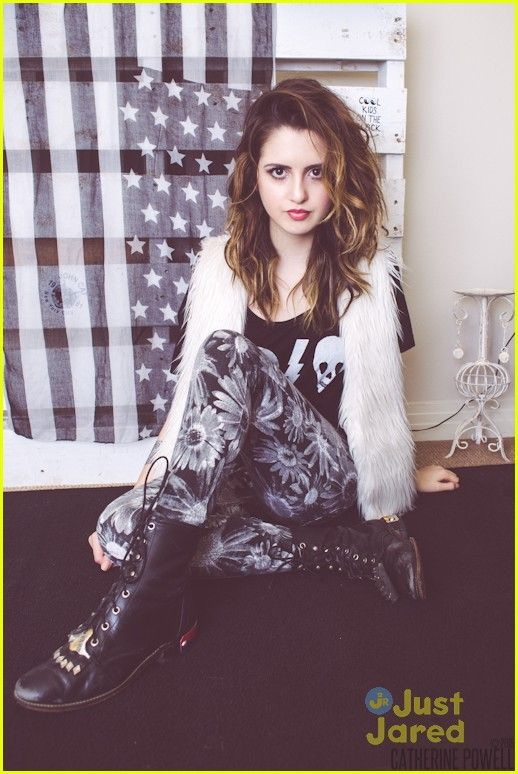 Laura Marano shows off her inner wild child in this new shot from the March 2015 issue of NKD mag.