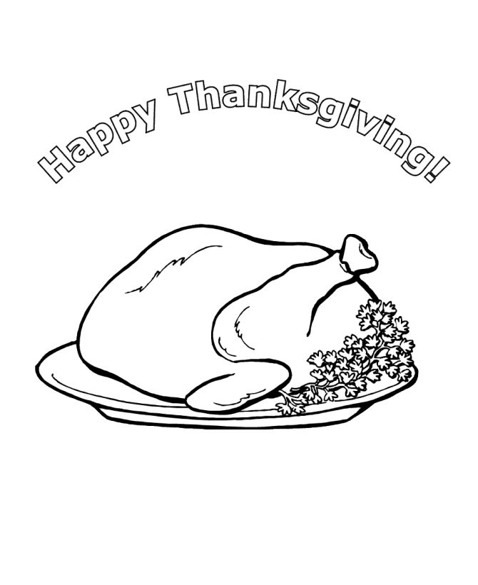 thanksgiving dinner coloring pages - Coloring Activities For Children