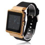 -pro6 SIM Card Remote Shutter Pedometer Sleep Monitor Touch Screen Bluetooth Smart Watch Golden