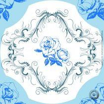 Adesivo de azulejo português rosas 15x15